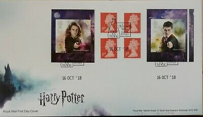 2018 Harry Potter Booklet of self adhesive stamps Royal Mail first day cover