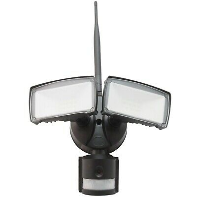 V-Tac 18W Daylight LED Floodlight with Wifi Sensor Camera Black