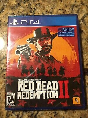 PS4 Red Dead Redemption 2 video game - used great condition (disc+case)