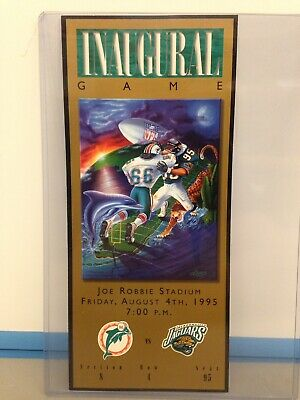 Dolphins Vs Jaguars Inaugural Game Ticket