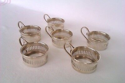 Extremely Rare Set Of 6 Solid Silver Cup Holders S.Blankensee & Son 1911