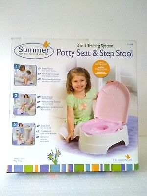 Potty Seat and Step Stool Versatile 3 in 1 Training System Light weight portable