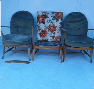 Joblot Of Vintage ERCOL Easy Chairs In Need Of Restoration