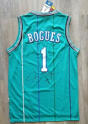 1b84714d15d Muggsy Bogues autographed signed jersey authentic NBA Charlotte Hornets PSA  COA