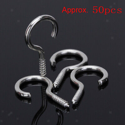 Heavy Duty Small Steel Screw In Eye Hooks Frame/Loop/Ring Wall Hangers