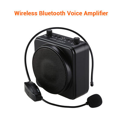 AKER MR2500W 22W Blue-Tooth PA Voice Amplifier + Wireless Mic For Teaching Guide