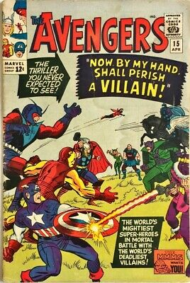 Avengers #15_Apr_1965_4.5 Very Good+ (Vg+)