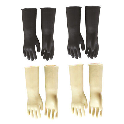 4 Pairs Heavy Duty Household Industrial Gardening Glove Rubber Latex Gloves