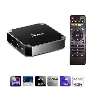 IPTV Smart TV BOX X96 MINI Android 7.1 Nougat S905W 2GB RAM 16GB KODI 4K 5 CORE