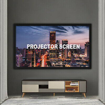 """135"""" Inch Projector Projection Screen 16:9 HD Aluminum Frame Fixed Cinema"""