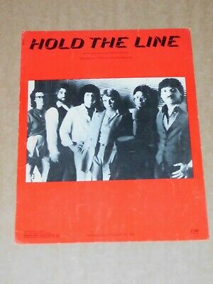 """Toto """"Hold The Line"""" US sheet music"""