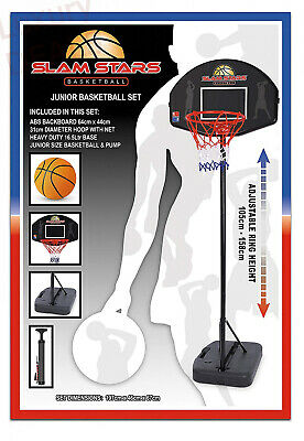 Slam Stars Junior Basketball Set - Black, 105-158 Cm