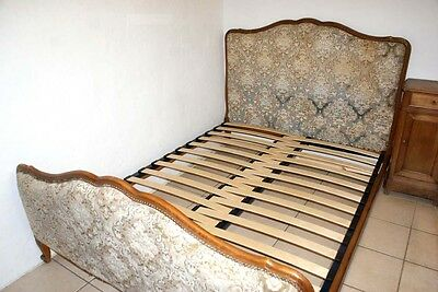 Adjustable SLATTED Bed Base French Upholstered Slats Double Antique Extendable