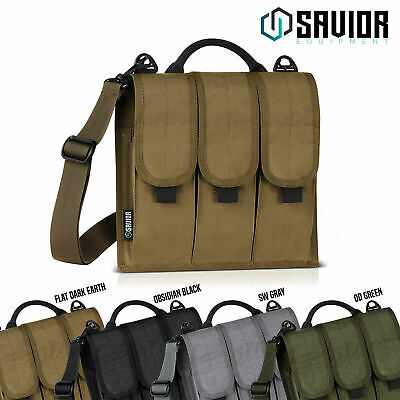 6-Slot Rifle 5.56/.223 Extended Mag Magazine Pouch Carry D-Ring Shoulder Strap
