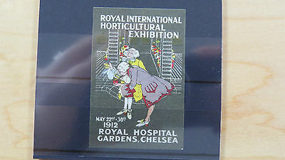 Stamp Cinderella UK Royal International Horticultural Exhibition Chelsea 1912