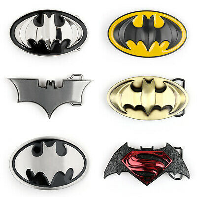 3D Comics Superhero Batman Superman Yellow&Black Hommess Métal Boucle Ceinture F