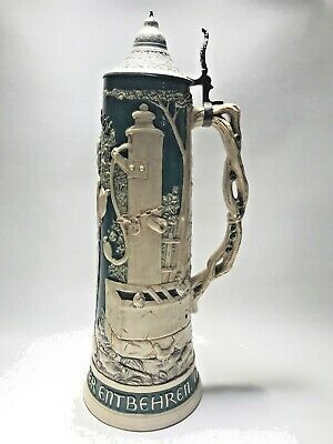 """18"""" Vintage German Stein High Relief And Massive! No Reserve"""