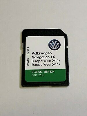 VOLKSWAGEN VW Skoda Seat RNS 310 V11 SD Card Sat Nav Map Europe and UK