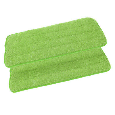 2 Pieces/Set Free Hand Washing Mop Cloths/Pad 15.8 Inch L×4.9 Inch W Green