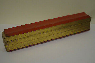 Antique Burmese Prayer Book scroll  gilt edged paper lacquered boards Myanmar