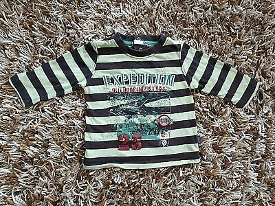 PUMPKIN PATCH Baby Boys 0/ US 12 M Striped Long Sleeves Snap Buttons Top Shirt