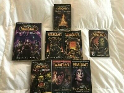 World of WARCRAFT book lot (Tides of Darkness, Horde, #2, #3, Ancients, Dragon)