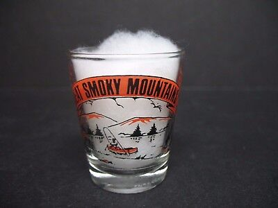 "Vintage Collectible Shot Glass ""Great Smoky Mountains"" 2.25"" Tall Excellent Cond"
