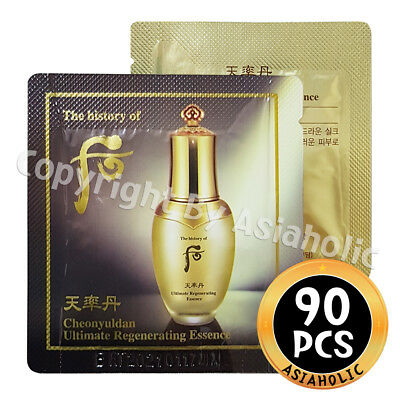 The history of Whoo Cheonyuldan Ultimate Regenerating Essence 1ml x 90pcs (90ml)