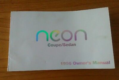 1996 NEON coupe/sedan owner's manual, 196 pages Chrysler Corporation