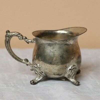 VIntage SILVER plated creamer cup bowl antique silver plate