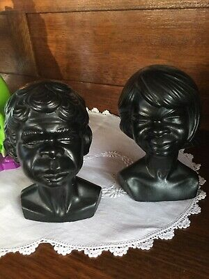 Pair Of Aboriginal Busts By Alexander Takacs