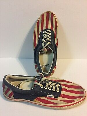 05604f33cf Vintage Vans VAN DOREN Stripes Canvas Skate Shoes Mens Size 9 Women s 10.5