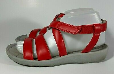 a2ac81eefde Clarks Cloudsteppers Sillian Spade Red Ankle Strap Sandals Shoes Size 8 1 2  M