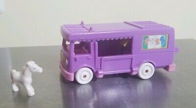 1994 Polly Pocket Bluebird STABLE ON THE GO Van Horse Carrier RV VINTAGE w Horse