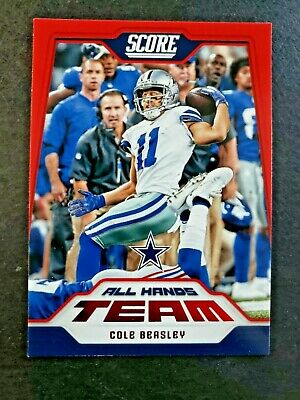 a0b11b93054 2018 Score Football Cole Beasley Red Retail SP All Hands Team Dallas Cowboys