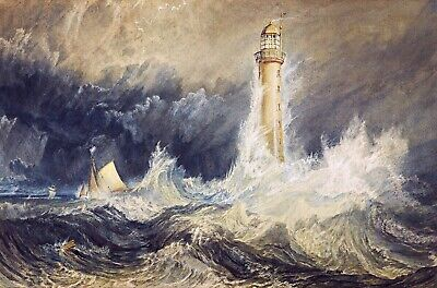 Bell Rock Lighthouse Painting by Joseph Mallord William Turner Art Reproduction