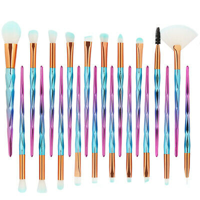 20PCS Unicorn Makeup Brushes Set Foundation Powder Eyeshadow Kabuki Brush Kit