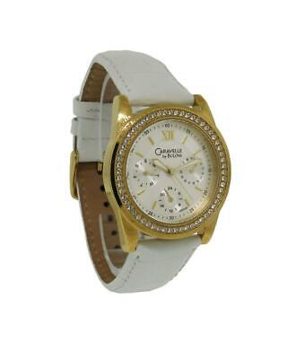 Caravelle by Bulova 44N100 Women's Round Analog Day Date Clear Stone Watch