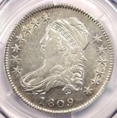 1809 Capped Bust Half Dollar 50C - Certified PCGS XF Details (EF) - Rare Date!