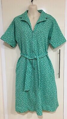 Vintage Retro Myers Green 1960's 70's Dress With Belt Size 16