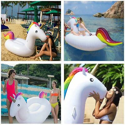Inflatable Giant Unicorn Lounger Water Float Summer Swim Pool Beach Fun 2.75m
