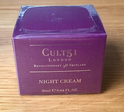 Cult 51 London Night Cream 20ml - Brand New And Sealed