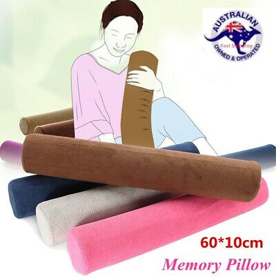 60X10cm Round Memory Foam Pillow Luxury Orthoped Cervical Support Sleep Rebound