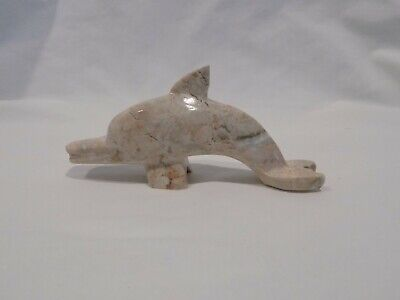 Dolphin Figure Carved Stone Sea Ocean Figurine Collectible Art Paperweight