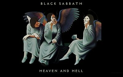 Black Sabbath Dio Heaven and Hell  Rock Band flag banner Wallhanging 90x 150cm