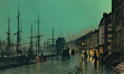 Shipping On The Clyde Painting by John Atkinson Grimshaw Art Reproduction