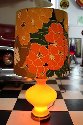 70s BIG Flower Power STEHLAMPE BODENLAMPE  ORANGE 80cm