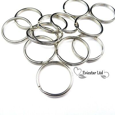 100 or 200 Pack - Key Rings 25mm - Split Ring Standard, KRS