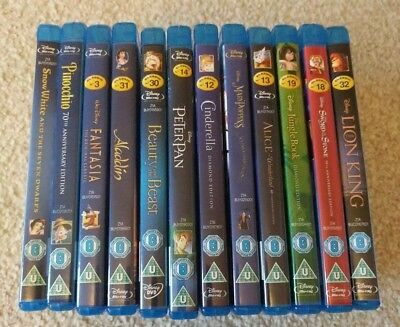 12x Disney Blu Ray Movie Collection (Lion King, Aladdin, Mary Poppins and More!)