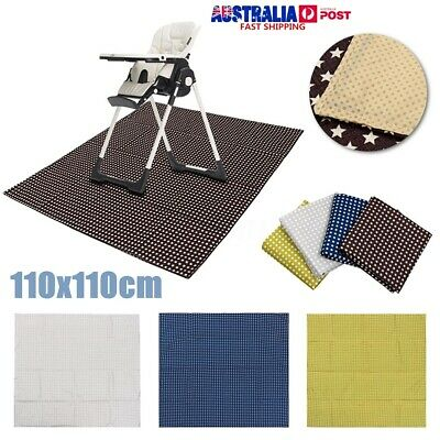 Baby Splash Mat Non Slip Washable Feeding Highchair Food Spill Mat Floor Cover
